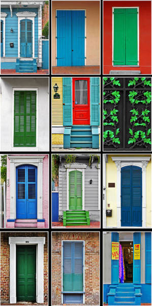 Photograph - New Orleans Doors by Christine Till
