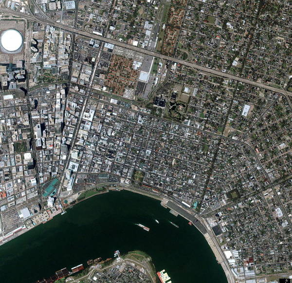 French Quarter Photograph - New Orleans French Quarter by Geoeye/science Photo Library
