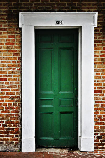 Photograph - New Orleans Green Door by Christine Till