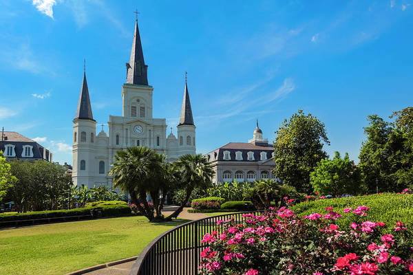 Louisiana Photograph - New Orleans Jackson Square And Saint by Drnadig