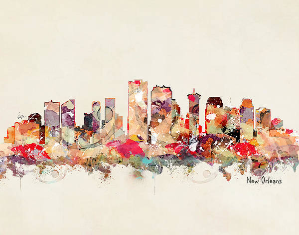 New Orleans Wall Art - Painting - New Orleans Louisiana by Bri Buckley
