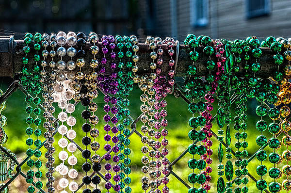Photograph - New Orleans Mardi Gras Beads No. 2 by Andy Crawford