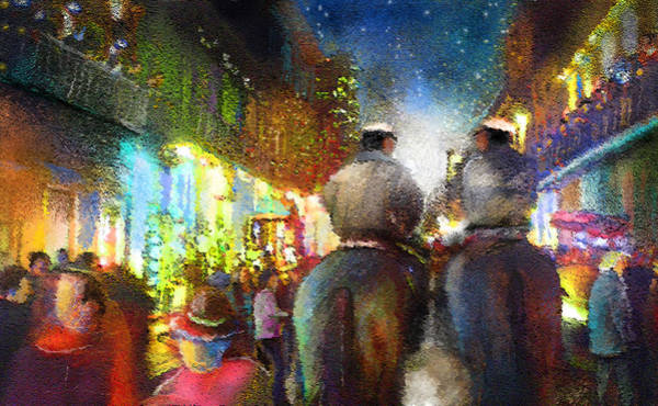 Painting - New Orleans Nights 01 by Miki De Goodaboom