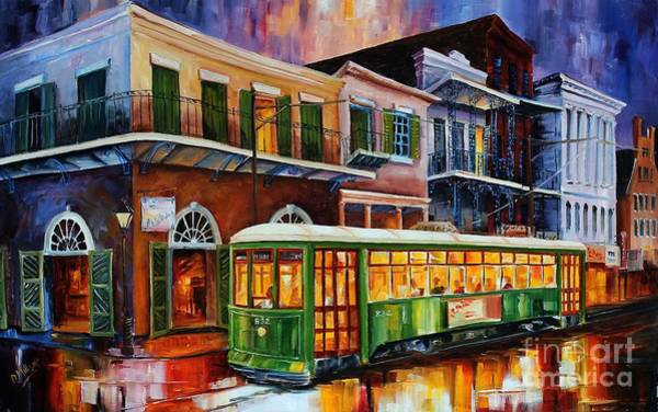 Bourbon Street Wall Art - Painting - New Orleans Old Desire Streetcar by Diane Millsap