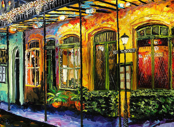 French Quarter Painting - New Orleans Original Painting by Beata Sasik