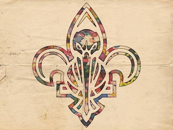 Painting - New Orleans Pelicans Logo Art by Florian Rodarte