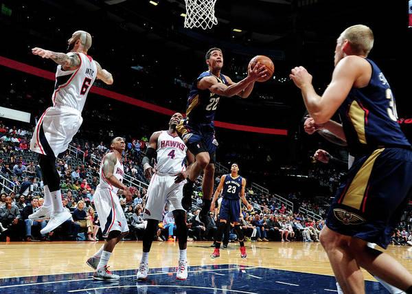 Atlanta Photograph - New Orleans Pelicans V Atlanta Hawks by Scott Cunningham