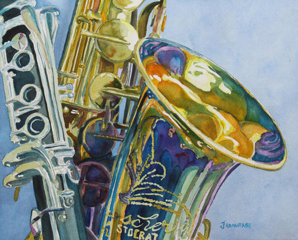 Wall Art - Painting - New Orleans Reeds by Jenny Armitage