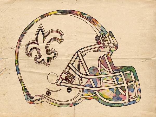 Painting - New Orleans Saints Logo Vintage by Florian Rodarte
