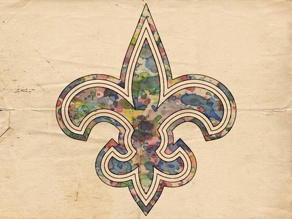 Painting - New Orleans Saints Poster Art by Florian Rodarte