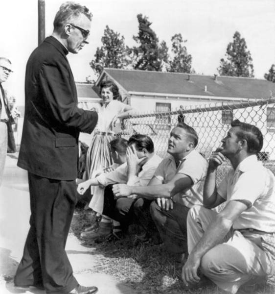 Chain Link Photograph - New Orleans School Integration by Underwood Archives