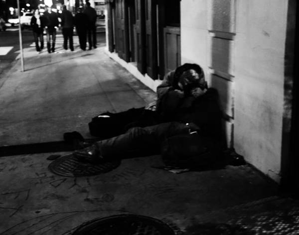 Photograph - New Orleans Sidewalk Sleepers by Louis Maistros