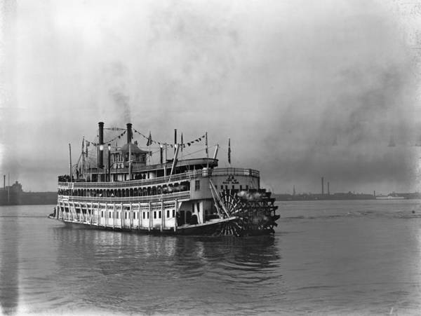 Photograph - New Orleans Steamboat by Granger