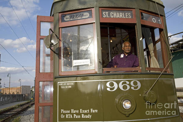 Photograph - New Orleans Steetcar by Jim West