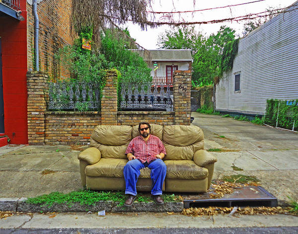 New Orleans Street Couch Art Print