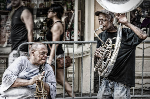 Photograph - New Orleans Street Jam by Jim Shackett