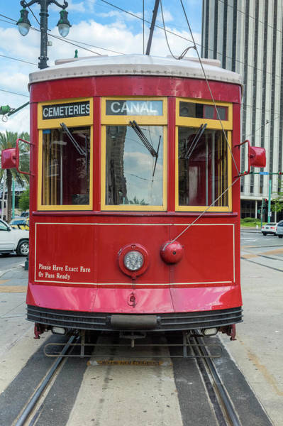 New Orleans Streetcar Heading Straight Art Print