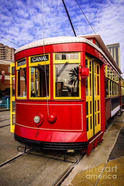 Trolley Car Wall Art - Photograph - New Orleans Streetcar  by Paul Velgos