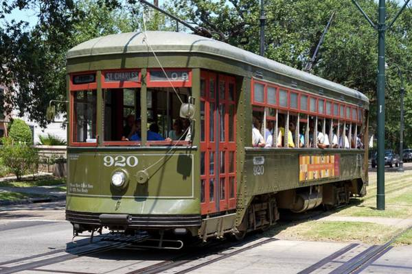 Psi Photograph - New Orleans Streetcar by Photostock-israel
