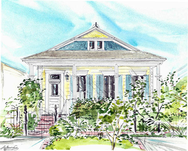 Painting - New Orleans Victorian by Lizi Beard-Ward