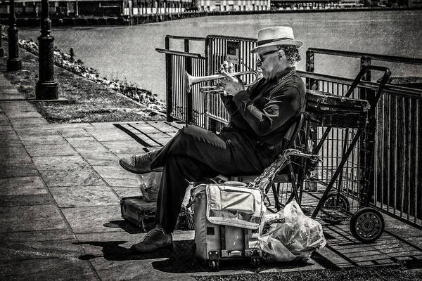 Photograph - New Orleans Waterfront Jazz by Melinda Ledsome