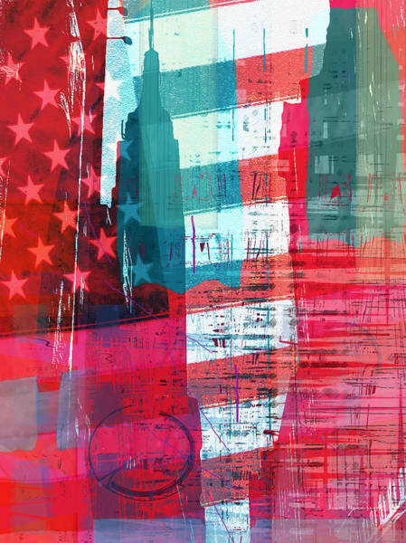 Semi Abstract Drawing - New Paint - New York Empire State I by MGL Meiklejohn Graphics Licensing