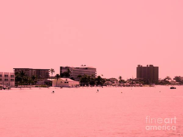 Digital Art - Peachy  View Of Beach by Oksana Semenchenko