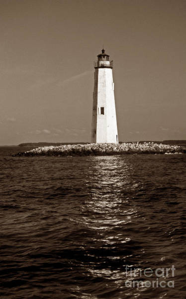 Virginia Lighthouse Photograph - New Point Comfort Light by Skip Willits
