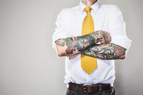 New Professional With Tattoos Art Print by RyanJLane
