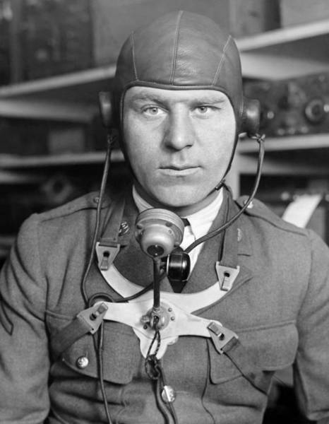 Army Air Corps Photograph - New Radio Gear For Flyers by Underwood Archives