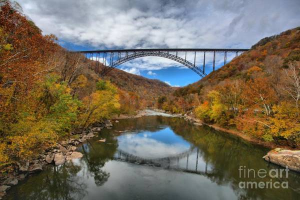 Photograph - New River Gorge Bridge Afternoon Reflections by Adam Jewell