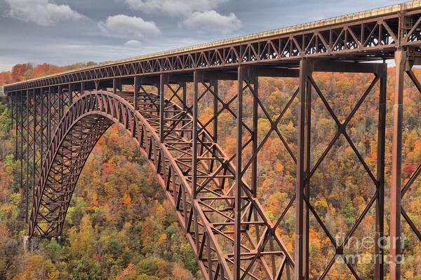 Photograph - New River Gorge Bridge Fall Foliage by Adam Jewell
