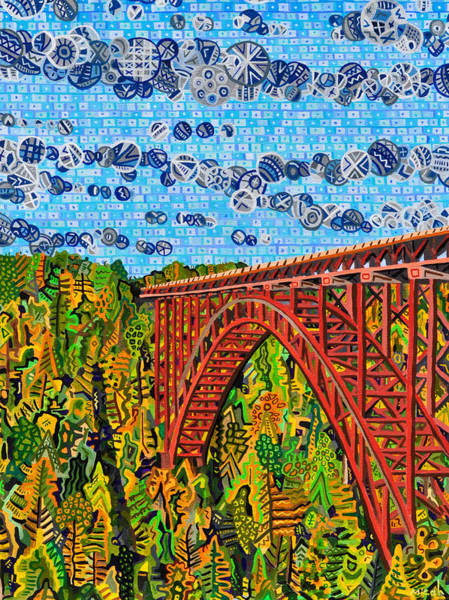 West Virginia Wall Art - Painting - New River Gorge by Micah Mullen