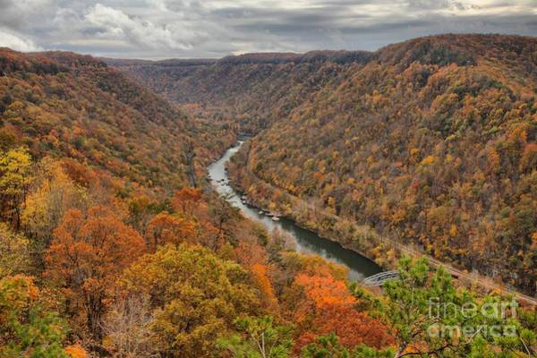 Photograph - New River Gorge Overlook Fall Foliage by Adam Jewell