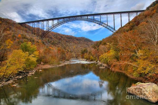 Photograph - New River Gorge Reflections by Adam Jewell