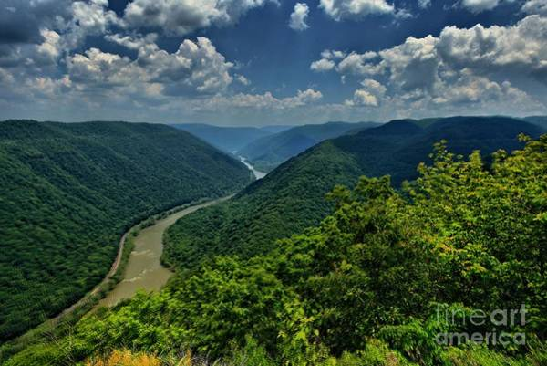 Photograph - New River Grand View by Adam Jewell
