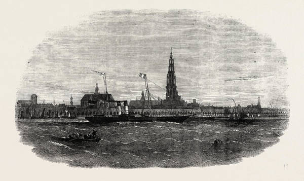 Wall Art - Drawing - New Route To Belgium The Aquila Steamship Leaving Antwerp by Belgian School