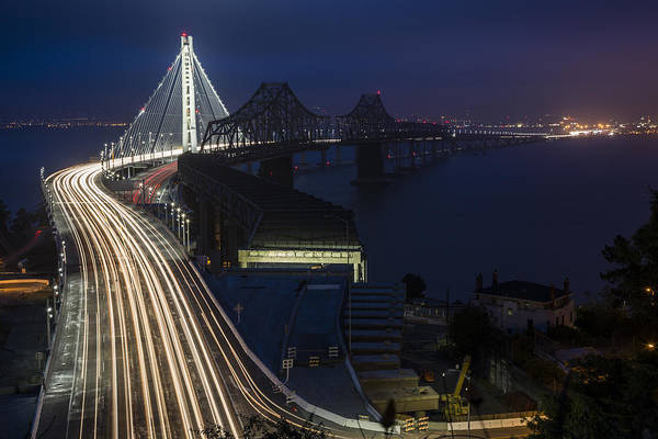 Photograph - New San Francisco Oakland Bay Bridge by Adam Romanowicz