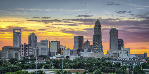 Charlotte Nc Wall Art - Photograph - New South Summer Sunset by Brian Young
