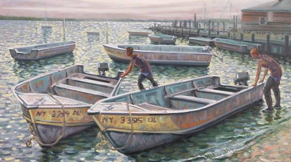 Painting - New Suffolk Fishing Boats by Gary M Long