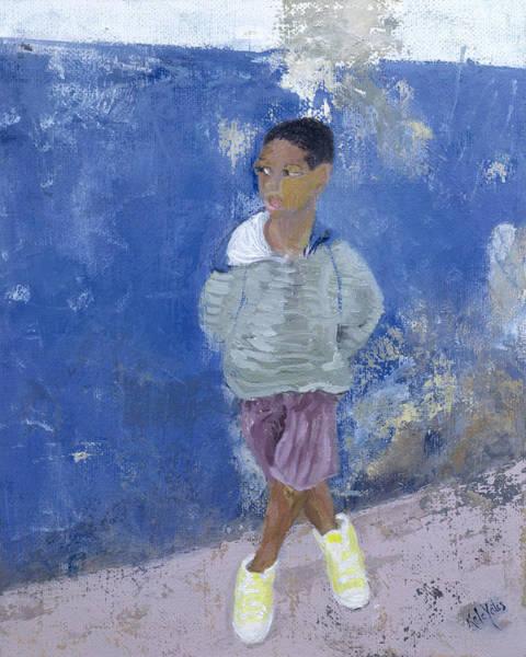 Crossed Legs Painting - New Trainers Havana Cuba by Kate Yates