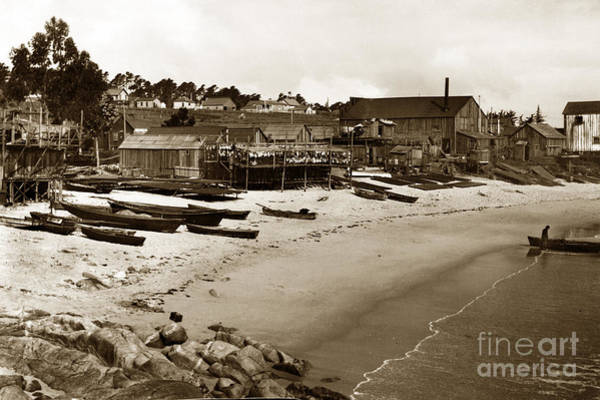 Photograph - New Village Site At Mcabee Beach  New Monterey California  Circa 1907 by California Views Archives Mr Pat Hathaway Archives