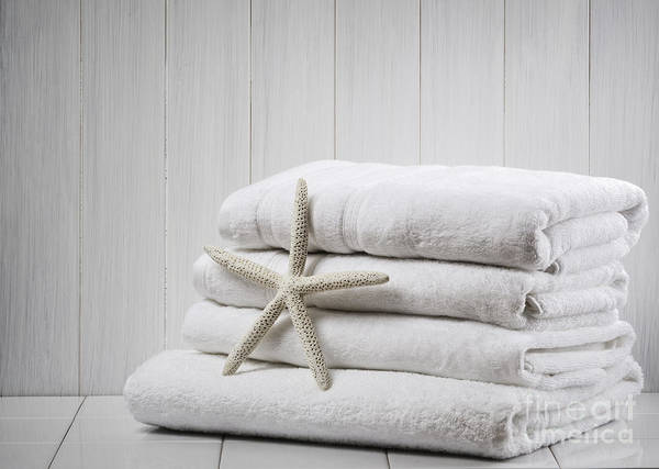 White Background Wall Art - Photograph - New White Towels by Amanda Elwell