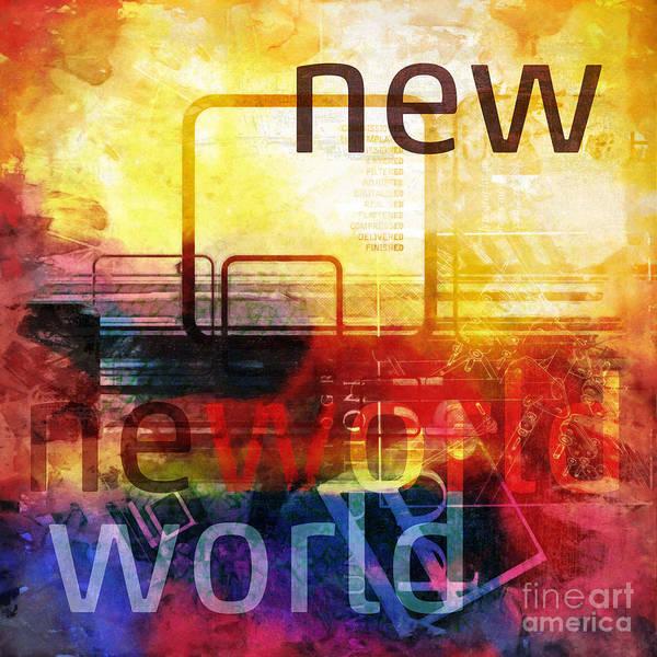 Digital Art - New World by Lutz Baar