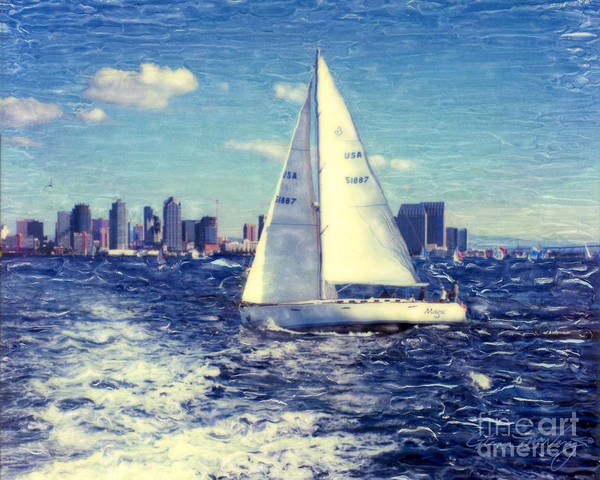 New Years Day Sailing Art Print
