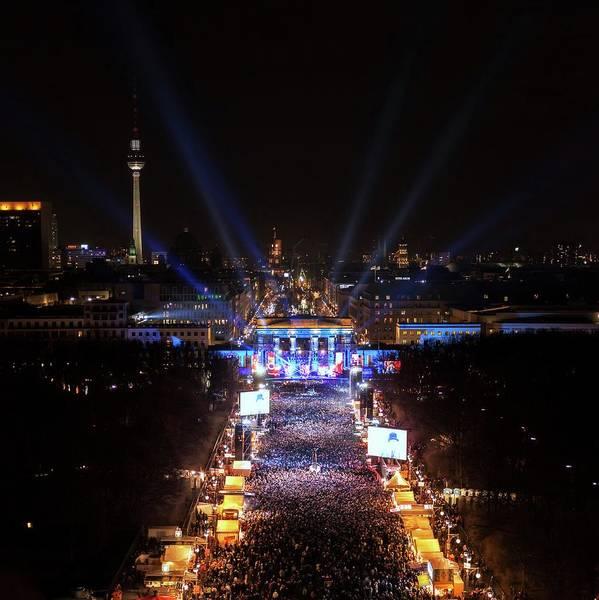 Brandenburg Gate Photograph - New Year's Eve by Babak Tafreshi