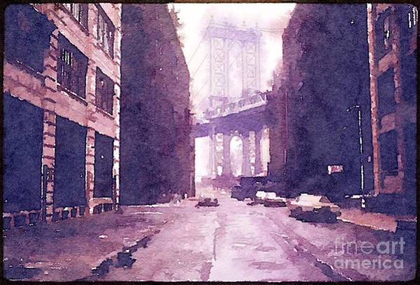 Painting - New York 1974 Manhattan Bridge by Helge