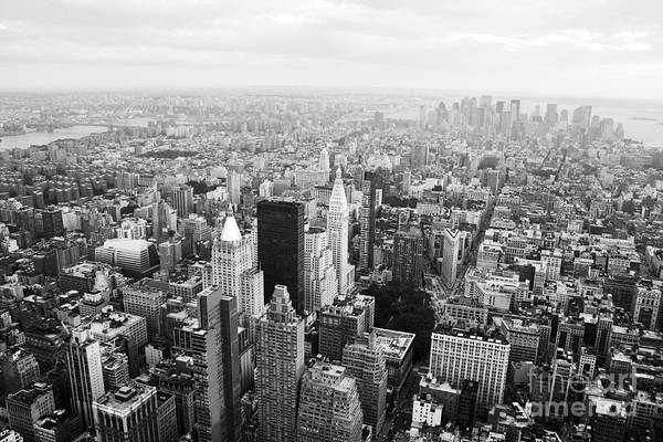 City Of David Photograph - New York Skyline From The Empire State by David Gardener