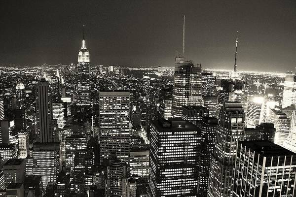 City Of David Photograph - New York From The Rock by David Gardener