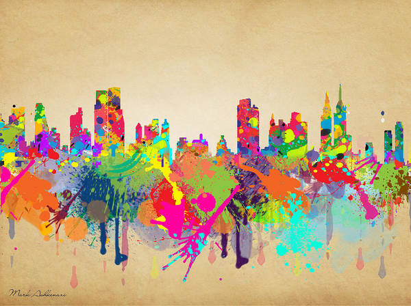 Wall Art - Painting - New York 5 by Mark Ashkenazi